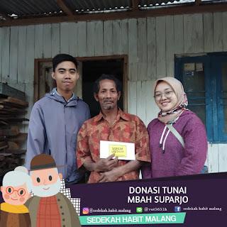 Mbah Suparjo : Donasi Tunai