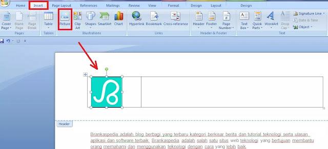 cara membuat kop surat dengan logo-3