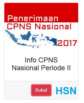 Resmi : Pengumuman Penerimaan CPNS Tahun 2017 Periode 2 img