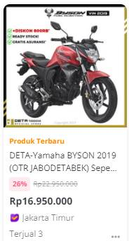 Cuci Gudang Stok 2019, Byson Fi 16 Jutaan, Vixion 21 Jutaan, R25 50 Jutaan OTR Jabodetabek