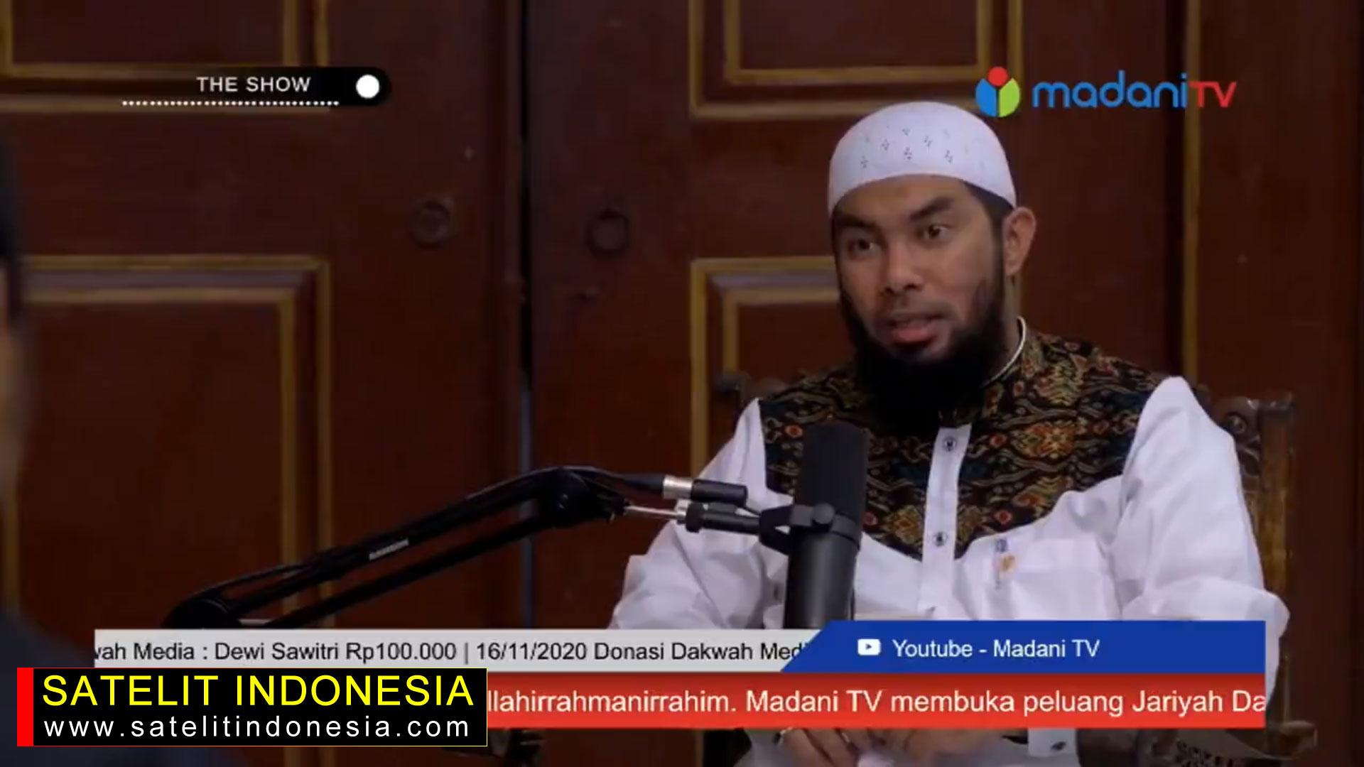 Frekuensi siaran Madani MPEG4 di satelit Telkom 4 Terbaru