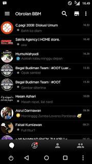 Download BBM Mod Black Themes v3.3.3.39 Terbaru Apk