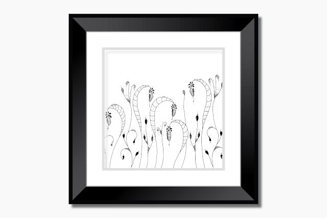Cocoon Garden Doodle Art