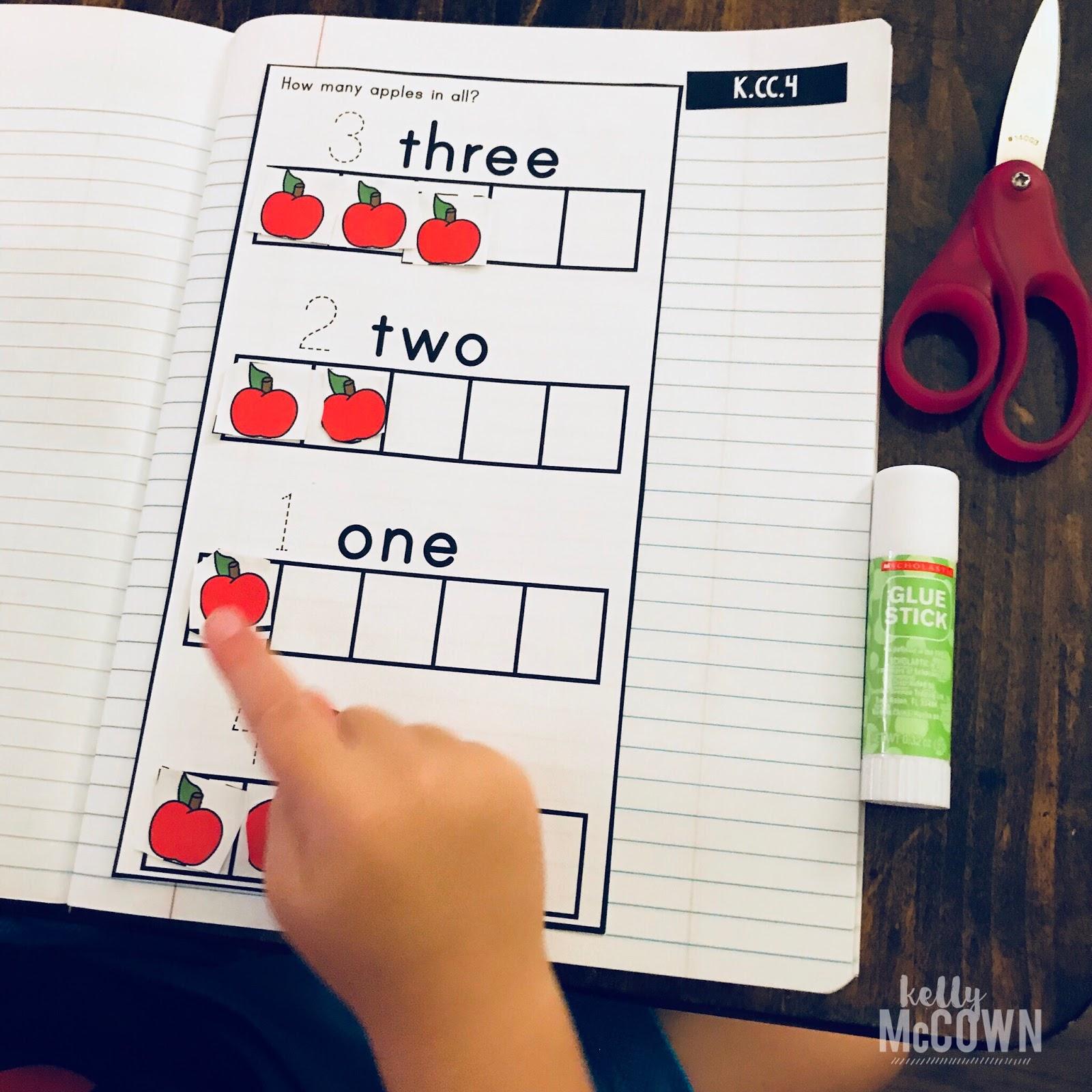 Kelly Mccown September Interactive Math Notebook