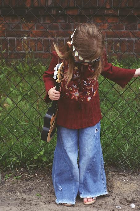 strój hippie dla dziecka