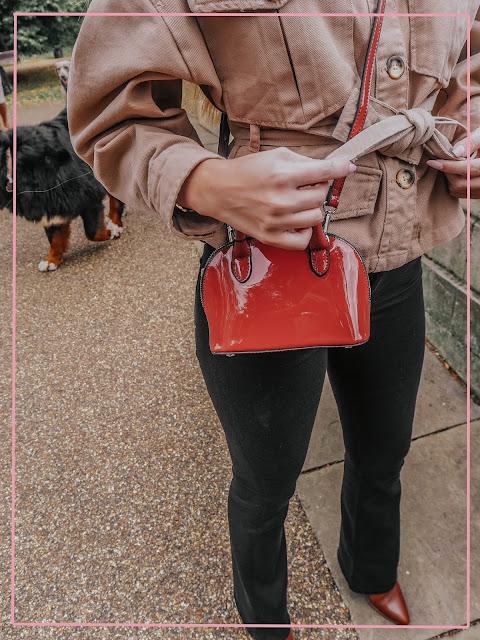 zara crossbody mini red tote bag
