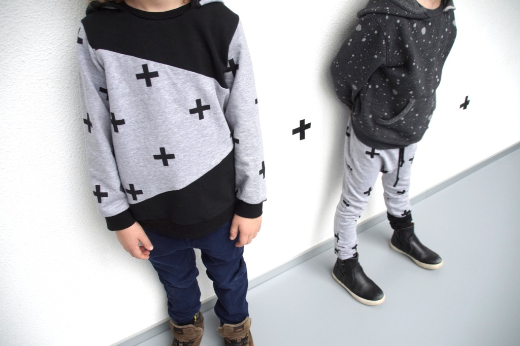 longihood and free motion pants in Stoffenfeest fabrics