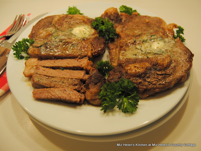 Oven Grilled Rosemary Rib Eye Steak at Miz Helen's Country Cottage