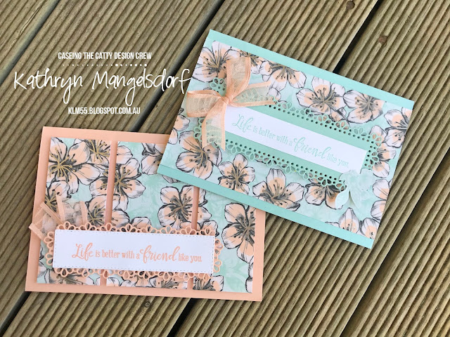 Stampin' Up! Parisian Blossom Speciality Designer Series Paper designed by Kathryn Mangelsdorf