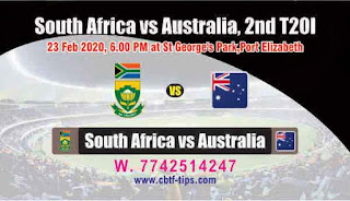 Who will win Today 2nd match Aus vs SA International 2020