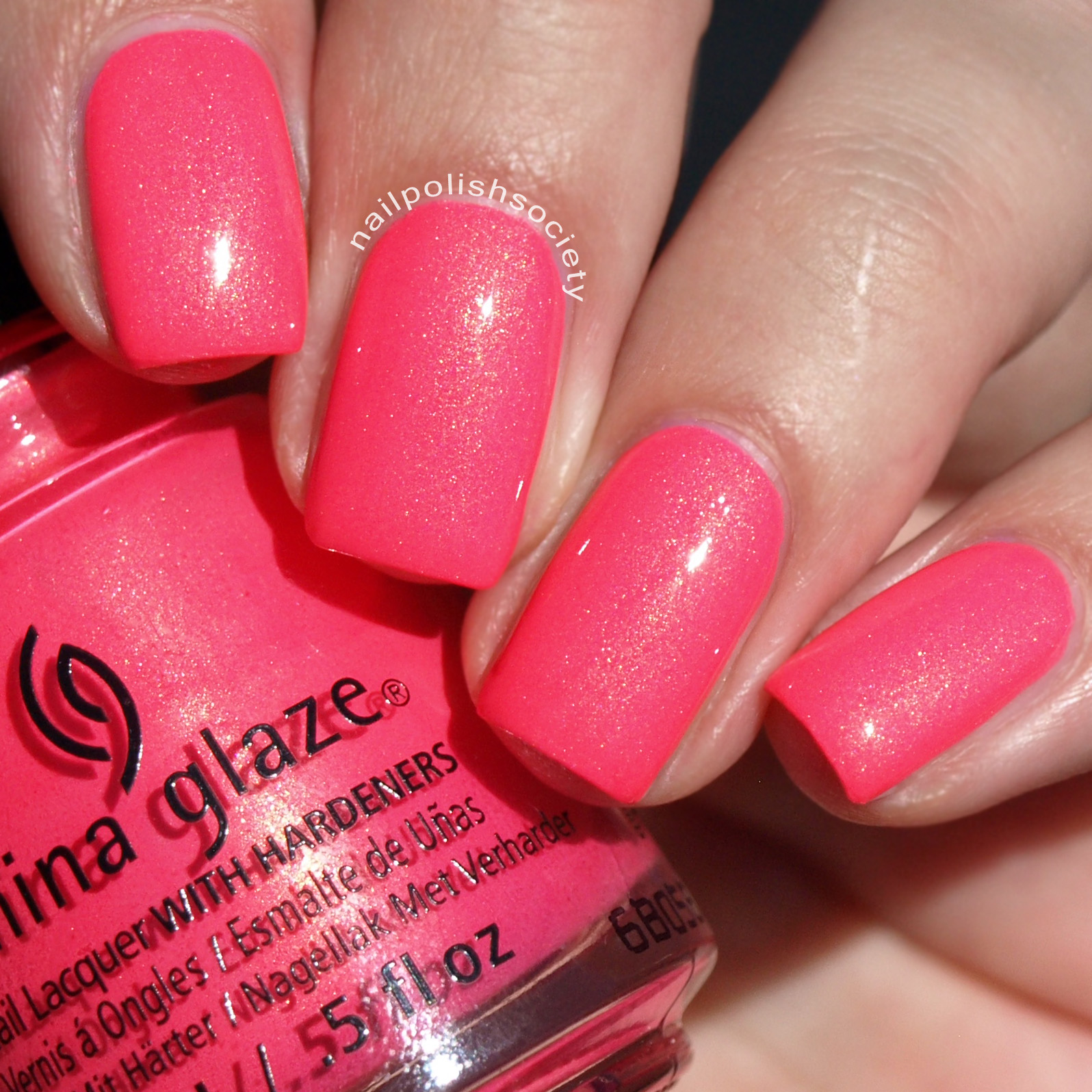 Hot Pink Nail Polish China Glaze - Creative Touch