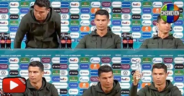 Cristiano Ronaldo contra la Coca-Cola y a favor del agua