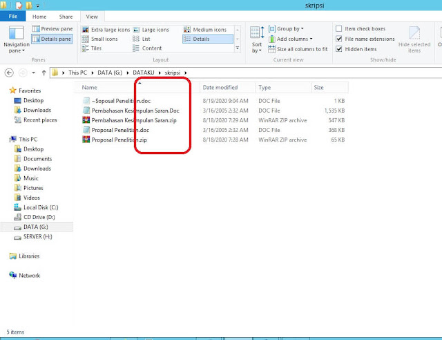 show file extensions