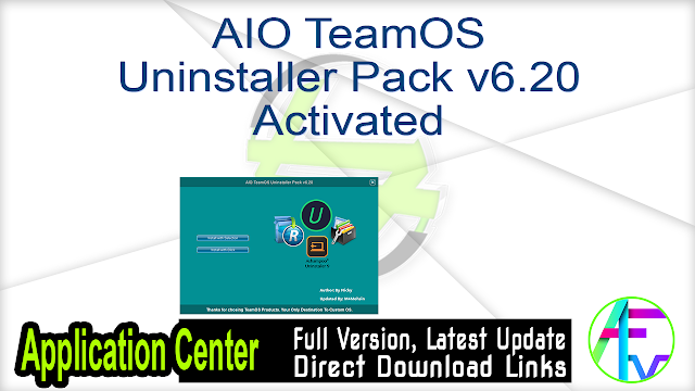 AIO TeamOS Uninstaller Pack Activated