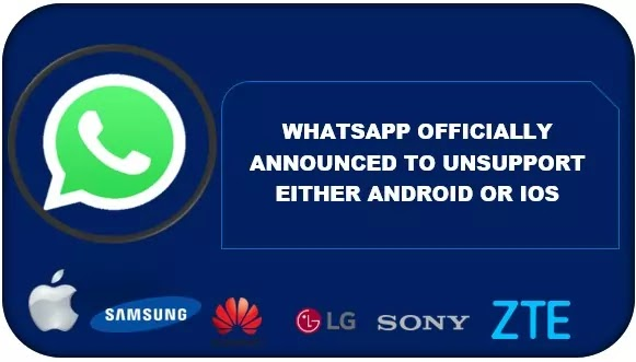 Shocking News from WhatsApp; WhatsApp Won't Run on Either Android or IOS