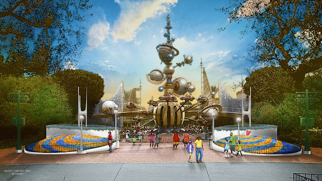 New 2020 Disneyland Tomorrowland Entrance Concept Art