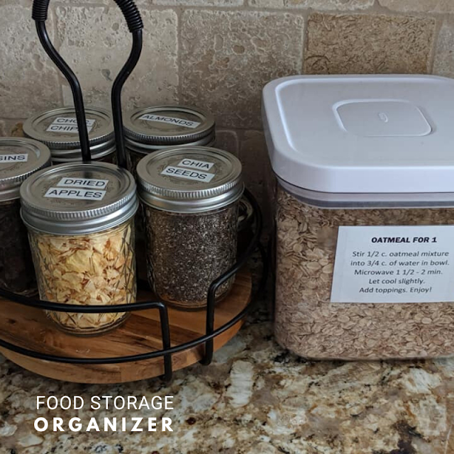 Food Storage Oatmeal Breakfast Station