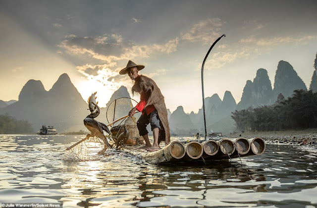 Ảnh đẹp Lão Ngư phủ tại sông Lệ Giang, Trung Quốc 10