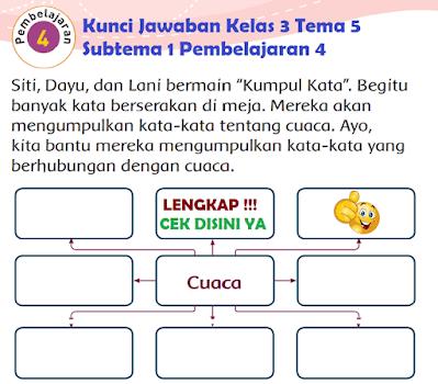 Kunci Jawaban Tematik Kelas 3 Tema 5 Subtema 1 Pembelajaran 4 www.simplenews.me