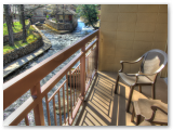 Balcony rooms on the river in the Smokies