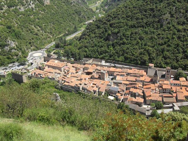 Pla d'accés Muralles de Vilafranca del Conflent