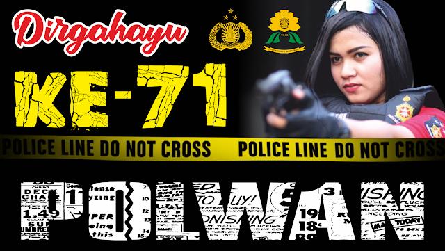 Desain Banner Polwan 2019