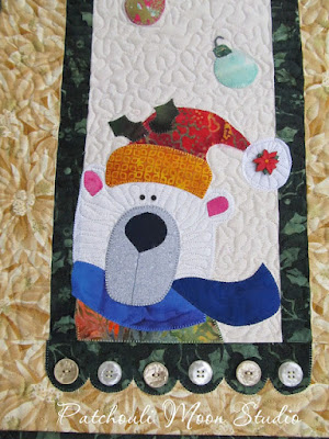 white bears on a table runner by Pachouli Moon