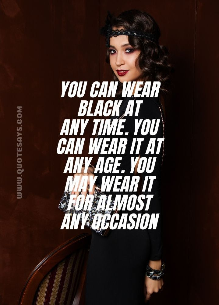 Quotes on black colour Dress