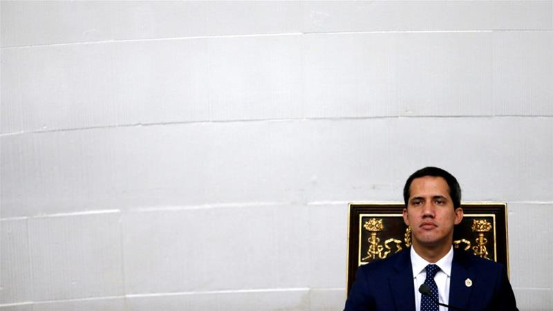 Venezuelan opposition leader Juan Guaido, who many nations have recognised as acting president, attends a session of the national assembly in Caracas, Venezuela Aug 20, 2019