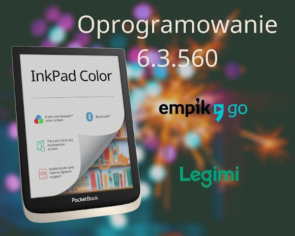 PocketBook InkPad Color z nowym oprogramowaniem zyskuje dostęp do e-booków w abonamentach Legimi i Empik Go