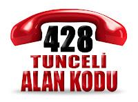 0428 Tunceli telefon alan kodu