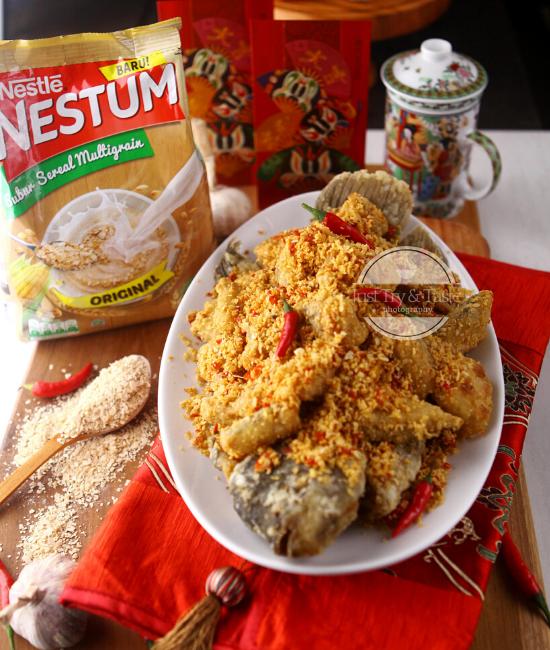 Resep Gurami Crispy Bawang Garam Nestum