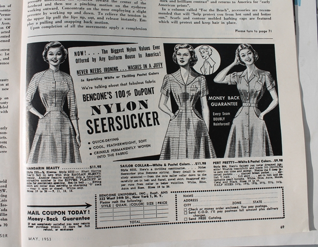 1950s dress advertisement