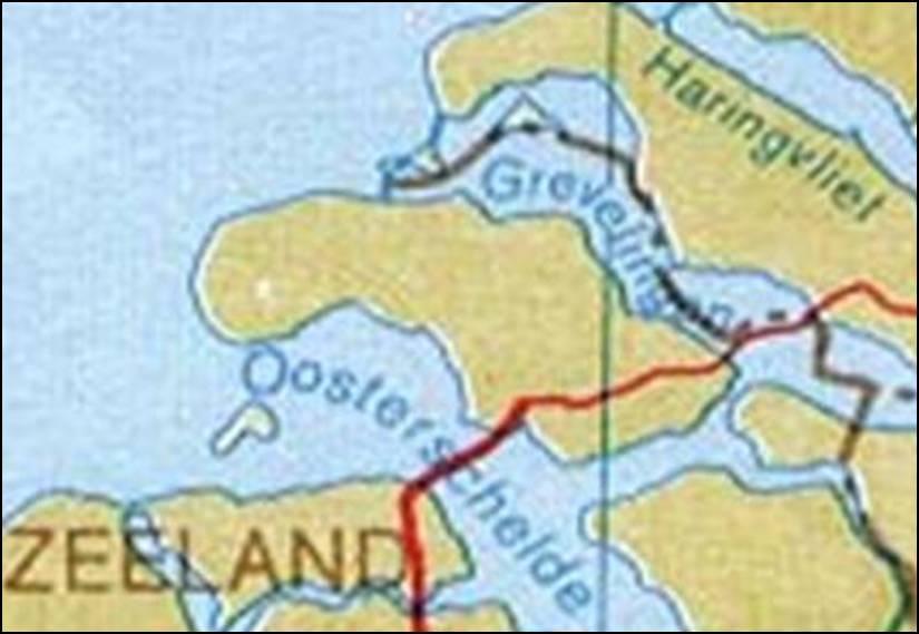 Kaart Zeeland Kaart Schouwen Duiveland Vakantie Zeeland