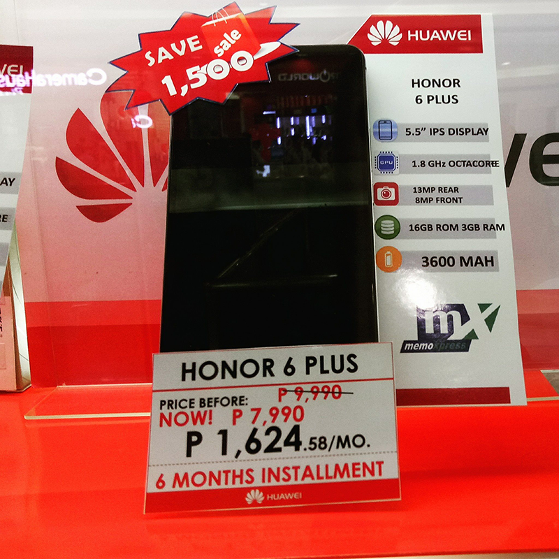 Honor 6 Plus at PHP 7,990 is a steal!