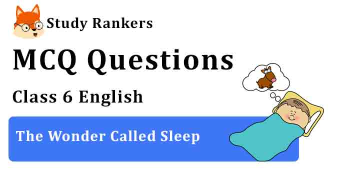 MCQ Questions for Class 6 English Chapter 7 The Wonder Called Sleep A Pact with the Sun