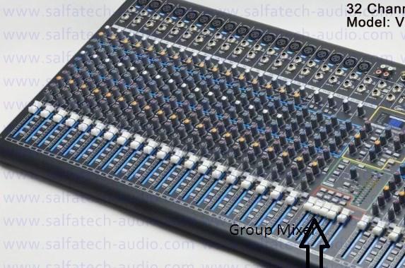 Fader Group pada mixer analog