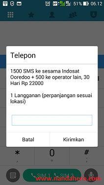 Paket SMS IM3 Indosat Ooredoo Murah