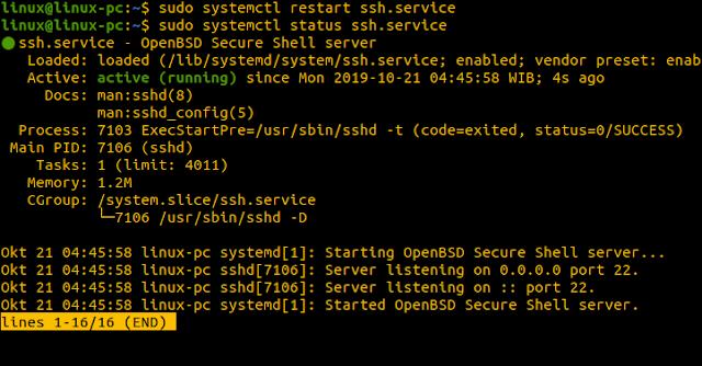 restart SSH