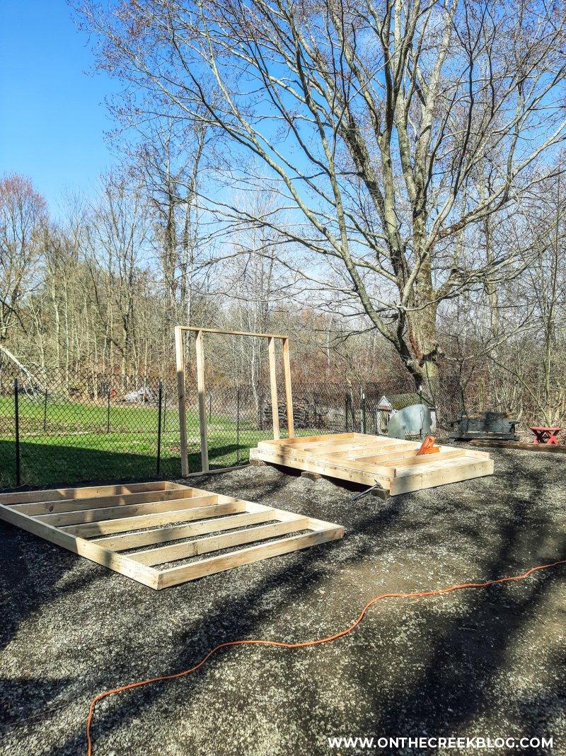 building a greenhouse | On The Creek Blog // www.onthecreekblog.com