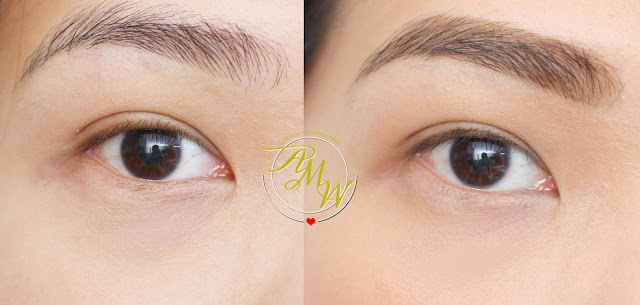 before and after photo of Kate Lasting Eyebrow W in BR-3
