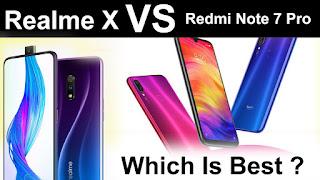 Redmi Note 7 Pro vs Realme X, realme x images