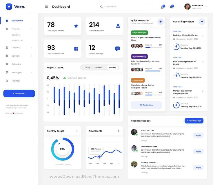 Saas Admin Dashboard UI Design Template