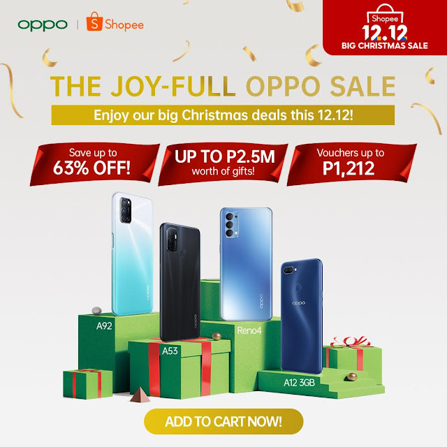 OPPO Greets you with a Joy-full 12.12 Online Sale: Up to 63% Discount, PHP2.5M Worth of Gifts, and More!