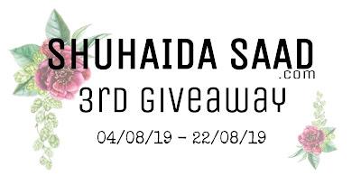 Shuhaidasaad.com 3rd Giveaway, Blogger, Blogger Giveaway, Blog, Hadiah,
