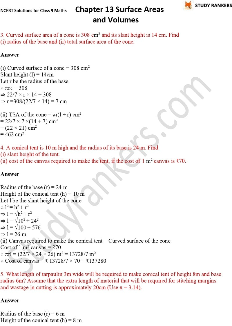 NCERT Solutions for Class 9 Maths Chapter 13 Surface Areas and Volumes Part 9