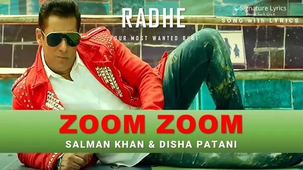 Zoom Zoom Lyrics - Radhe | Salman Khan | Ash King