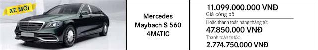 Giá xe Mercedes Maybach S500 2017 tại Mercedes Trường Chinh