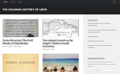 The Colonial History of Libya blog: https://libyacolonialhistory.wordpress.com/