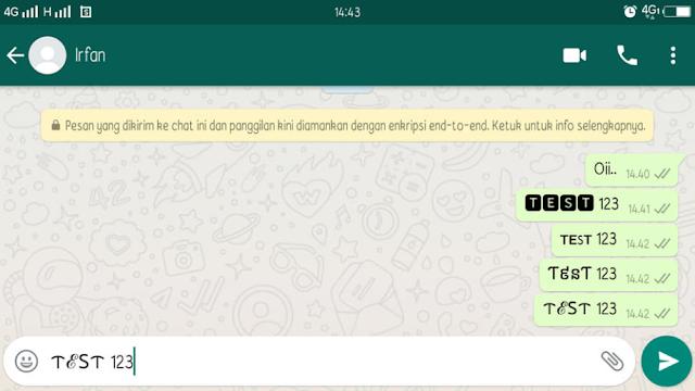 Cara Mengganti Tulisan di WhatsApp